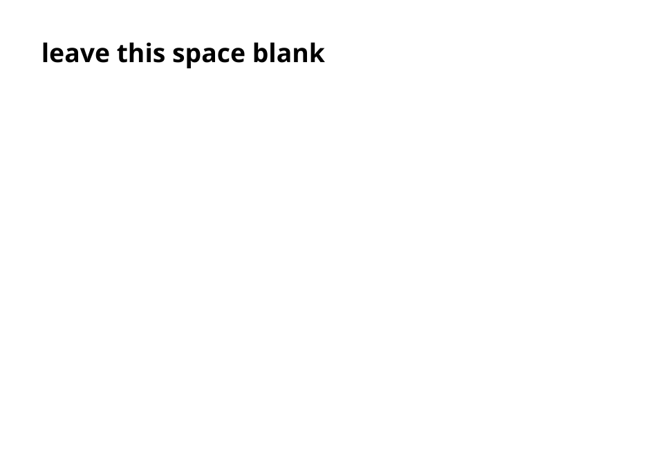 Leave this space blank